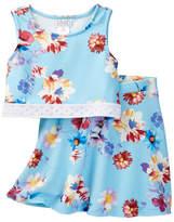 Blush by Us Angels Sleeveless Tank and Skirt 2-Piece Set (Big Girls)