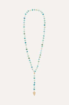 Sydney Evan Arrowhead 14-karat Gold, Opal And Diamond Necklace - one size