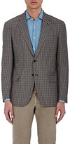 Luciano Barbera MEN'S CHECKED WOOL TWO-BUTTON SPORTCOAT
