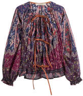 Etro Josephine Printed Cotton-Silk Blouse