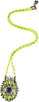 Neon Yellow Crystal/Rope Leitmotiv Iconic Necklace