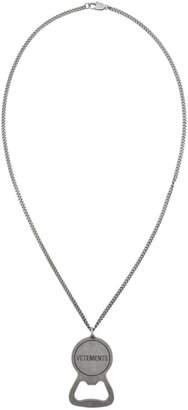 Vetements Silver Bottle Opener Necklace