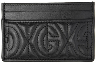 Gucci Black GG Quilted Card Holder