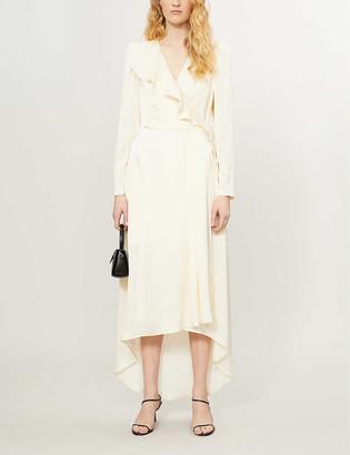 Designers Remix Lauren wrap-over woven maxi dress