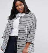 Helene Berman Plus Kimono Jacket In Stripe