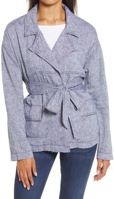 Caslon Belted Linen Blend Jacket