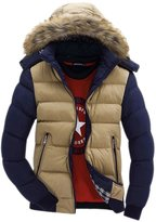 Geval Men's Thicken Jackets With Faux Fur Hood(,M)