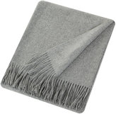 Sofia Cashmere Trentino 2 Ply Fringed Throw - Grey