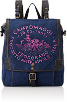 Campomaggi WOMEN'S LOGO CONVERTIBLE BACKPACK-BLUE