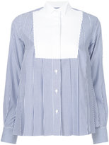 Sacai striped bib shirt - women - Cotton - 1