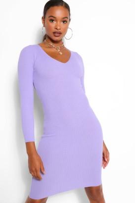 boohoo Rib Knit Midi Dress