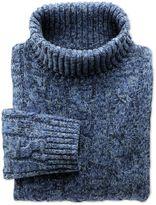 Charles Tyrwhitt Blue Mouline Roll Neck Wool Sweater Size Small