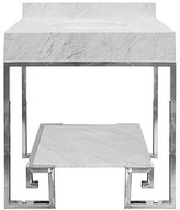 The Well Appointed House Worlds Away Fulton Greek Design Vanity in Nickel