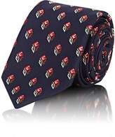 Gucci Men's Logo-Cube-Print Silk Necktie