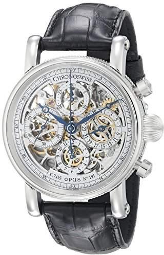 Chronoswiss Men's CH-7543S/11-1 Sirius Analog Display Automatic Self Wind Black Watch
