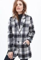 Forever 21 Plaid Woven Coat