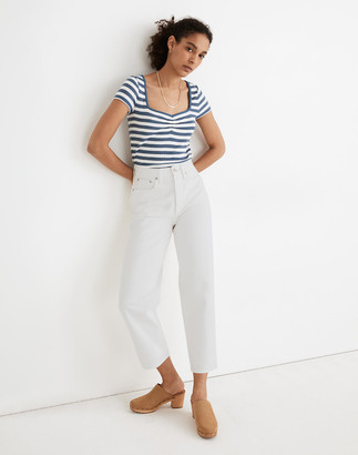 Madewell Balloon Jeans in Tile White