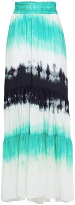 A.L.C. Tie-dyed Silk Crepe De Chine Maxi Skirt
