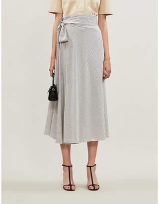 Diane von Furstenberg Tilda striped woven wrap skirt
