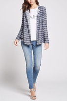 BCBGeneration Striped Slub Cardigan