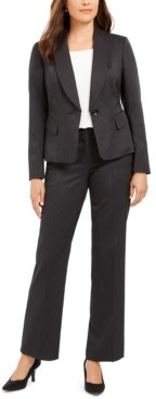 Le Suit Double-Pinstriped Pantsuit