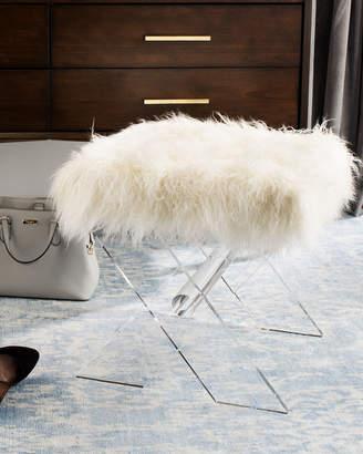 Safavieh Keely Faux Fur X-Base Bench