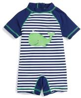 Little Me Infant Boy's Whale One-Piece Rashguard Swimsuit