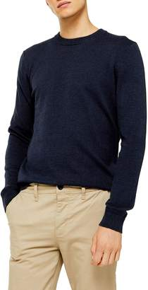 Topman Twisted Classic Fit Crewneck Sweater