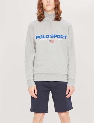 Polo Ralph Lauren print cotton-blend jersey sweatshirt