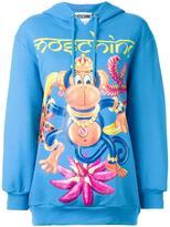 Moschino monkey print hoodie