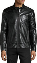 Andrew Marc Sedgwick Faux-Leather Moto Jacket, Jet Black