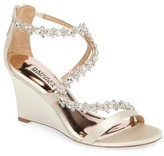 Badgley Mischka Women's Bennet Embellished Wedge Sandal