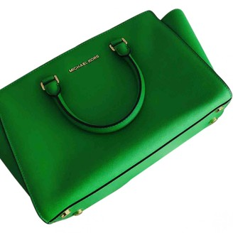 Michael Kors Selma Green Leather Handbags