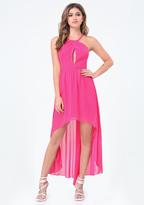 Bebe Chiffon Hi-Lo Dress