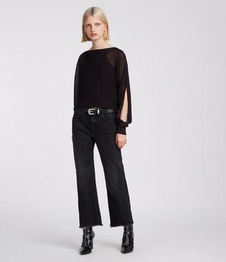 AllSaints Elle Open Shoulder Sweater
