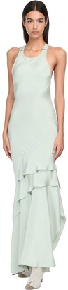 Max Mara Draped Silk Long Dress