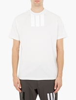 Y-3 White Cotton 3-Stripe T-Shirt