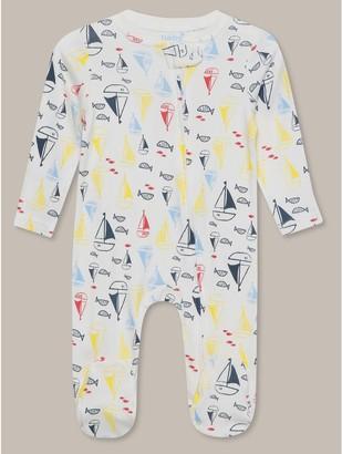 M&Co Boat print sleepsuit (Tinybaby-18mths)
