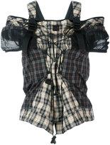 Maison Margiela fitted plaid blouse