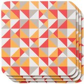 Now Designs Cork Backed Coasters, Trio, Set of 4