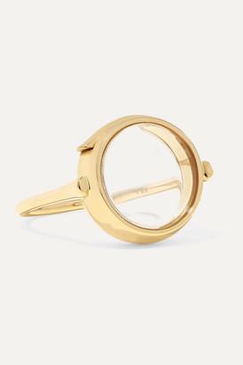 Loquet 14-karat Gold And Sapphire Crystal Locket Ring - 5