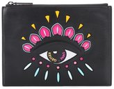 Kenzo Eye embellished leather clutch