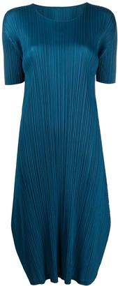 Pleats Please Issey Miyake micro-pleated T-shirt dress
