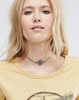 Asos Jewel Flower Choker Necklace