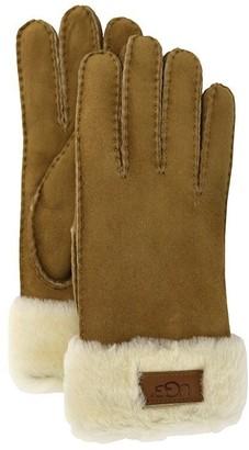 UGG Women's Turn Cuff Glove - Chestnut, Medium