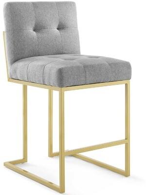 "Orren Ellis Kirstie Counter & Bar Stool Seat Height: Counter Stool (24.5"" Seat Height), Color: Light Gray"