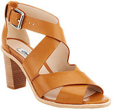 Clarks Narrative Leather Block Heel Pumps - Oriana Bess