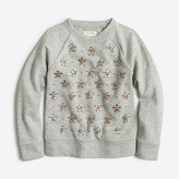 J.Crew Factory Girls' jewel-cluster sweatshirt