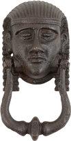 Rejuvenation Impressive Cast Iron Egyptian Figural Door Knocker c1920