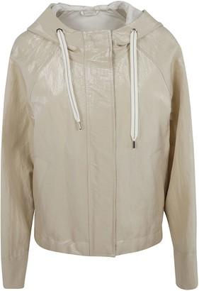 Brunello Cucinelli Drawstring Hood Zipped Jacket